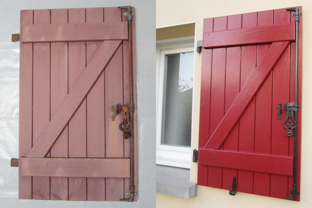 Comment Rénover Une Porte En Bois comment rénover des volets en bois ? - fenêtre et domotique